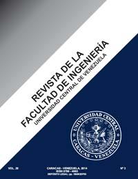 Revista de la Facultad de Ingeniería de la Universidad Central de Venezuela